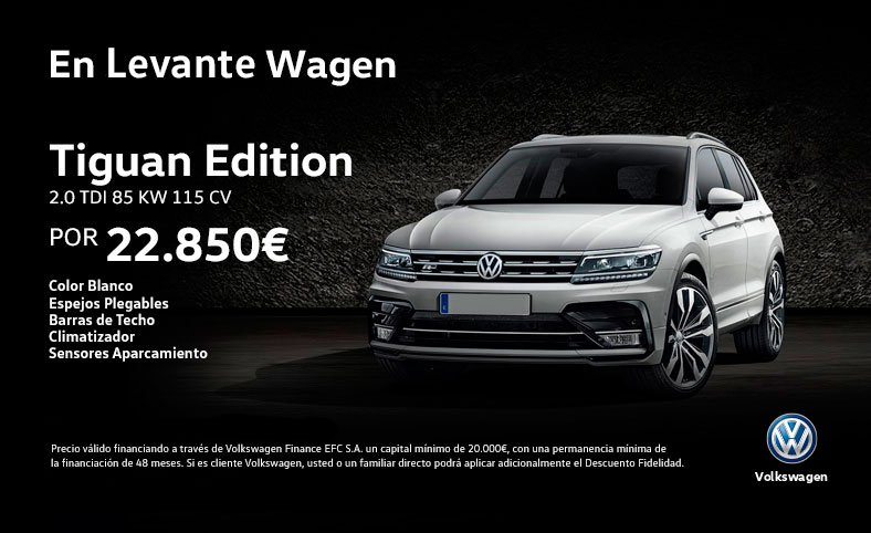 levante wagen ofertas y precios volkswagen tiguan y volkswagen t roc. Black Bedroom Furniture Sets. Home Design Ideas